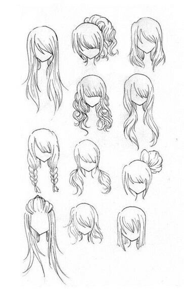 Hairstyles girl woman how to draw manga anime
