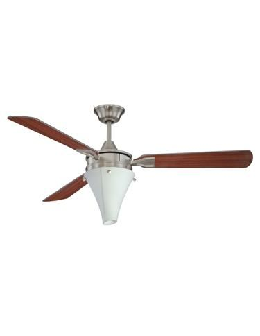An elongated diffuser and raised knobs give Ellington's Energy Star-rated Urban Aire fan an industrial yet upscale look. www.ellingtonfans.com
