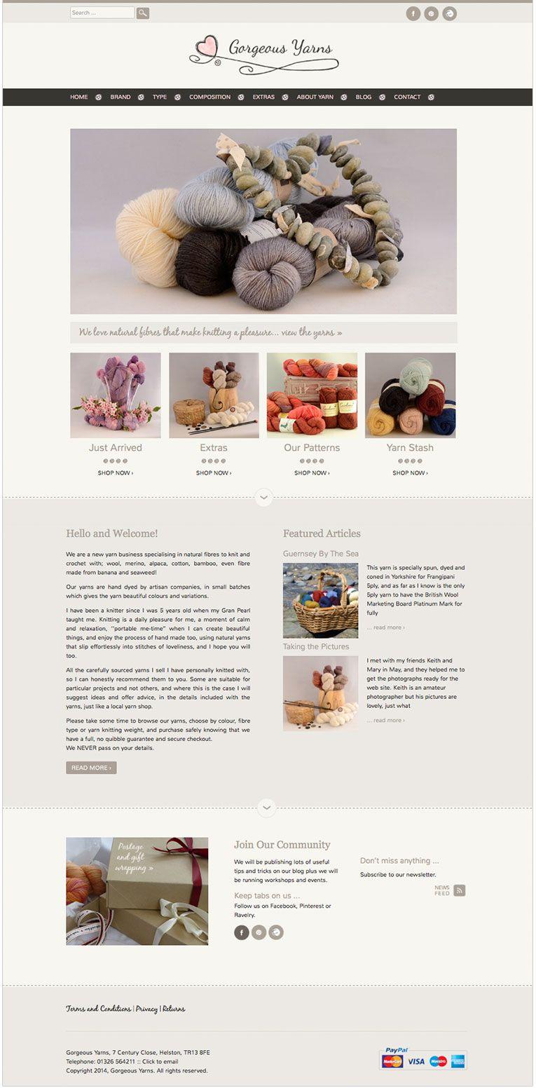 Gorgeous Yarns Ecommerce Website Design Ecommerce Website Design Ecommerce Web Design Web Design