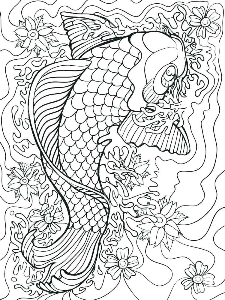 Best Hard Fish Coloring Pages Geometric Coloring Pages Abstract Coloring Pages Fish Coloring Page
