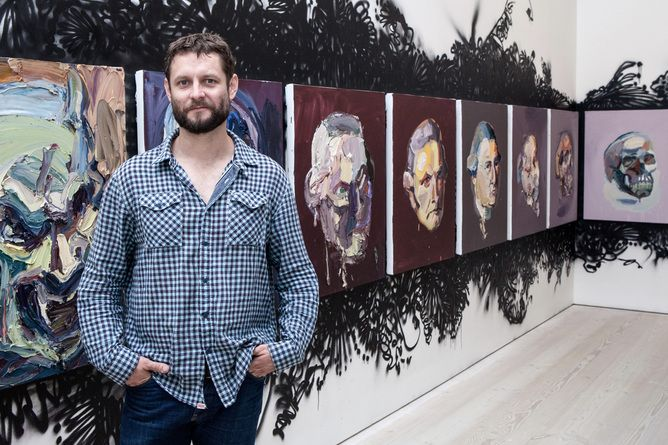 Ben Quilty at the Saatchi Gallery ... things just got interesting