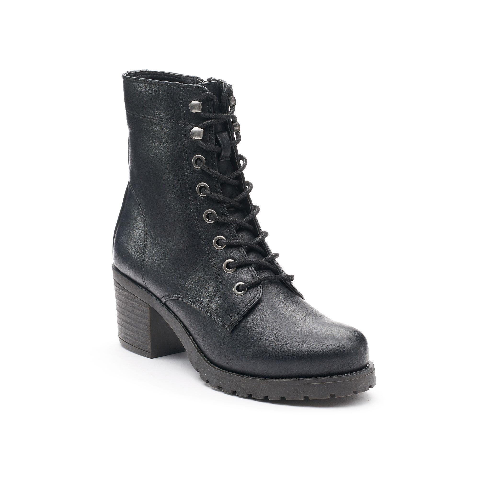 madden NYC Josiee Women's High ... Heel Combat Boots WFQbPWnJ