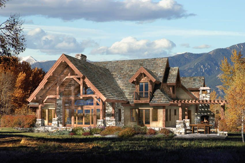 Mountain craftsman style house plans our mountain home for Craftsman log home plans