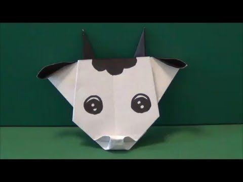 おりがみで x3d うしのかお x3d おってみた 牛の顔の折り方 japanese traditional origami x3d cow face x3d 2014 vol 092 youtube 折り紙 簡単 色紙 アイデア 折り紙 ねずみ