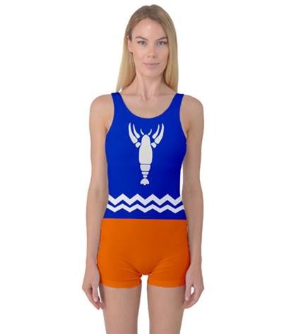 Toon Link Crayfish Pajama Womens One Piece Bathing Suit
