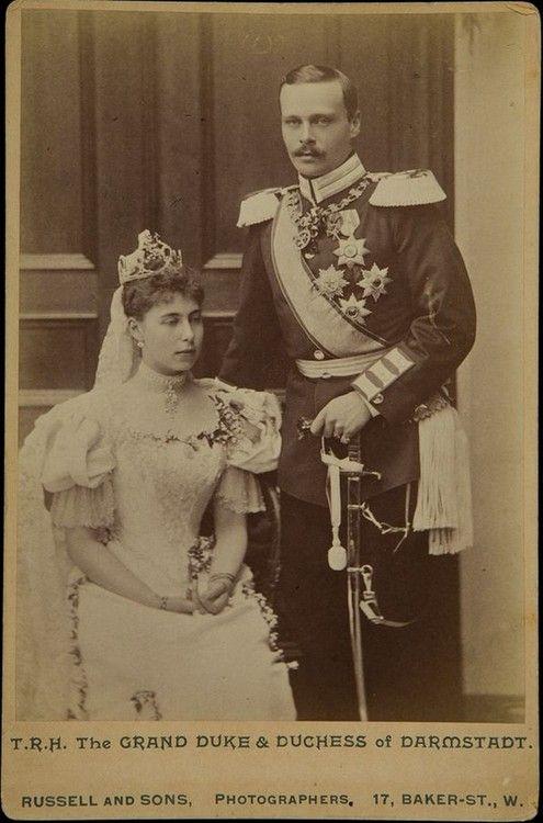 Wedding image of Pss Victoria Melita of Edinburgh and Grand duke Ernst Ludwig of Hesse.