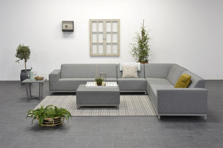 Kussens Loungeset Buiten : Davis loungeset 4 delig licht grijs all weather loungeset