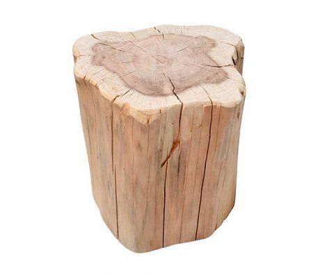 Beistelltische Holz hk living beistelltisch stamm braun metasequoia holz ca 40x30x40cm
