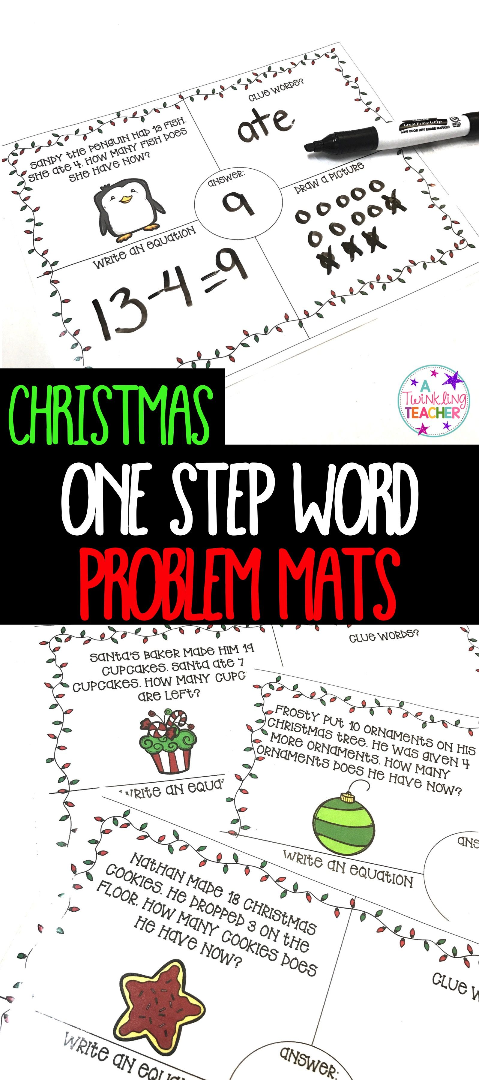 Easy Prep Christmas Addition And Subtraction Word Problem