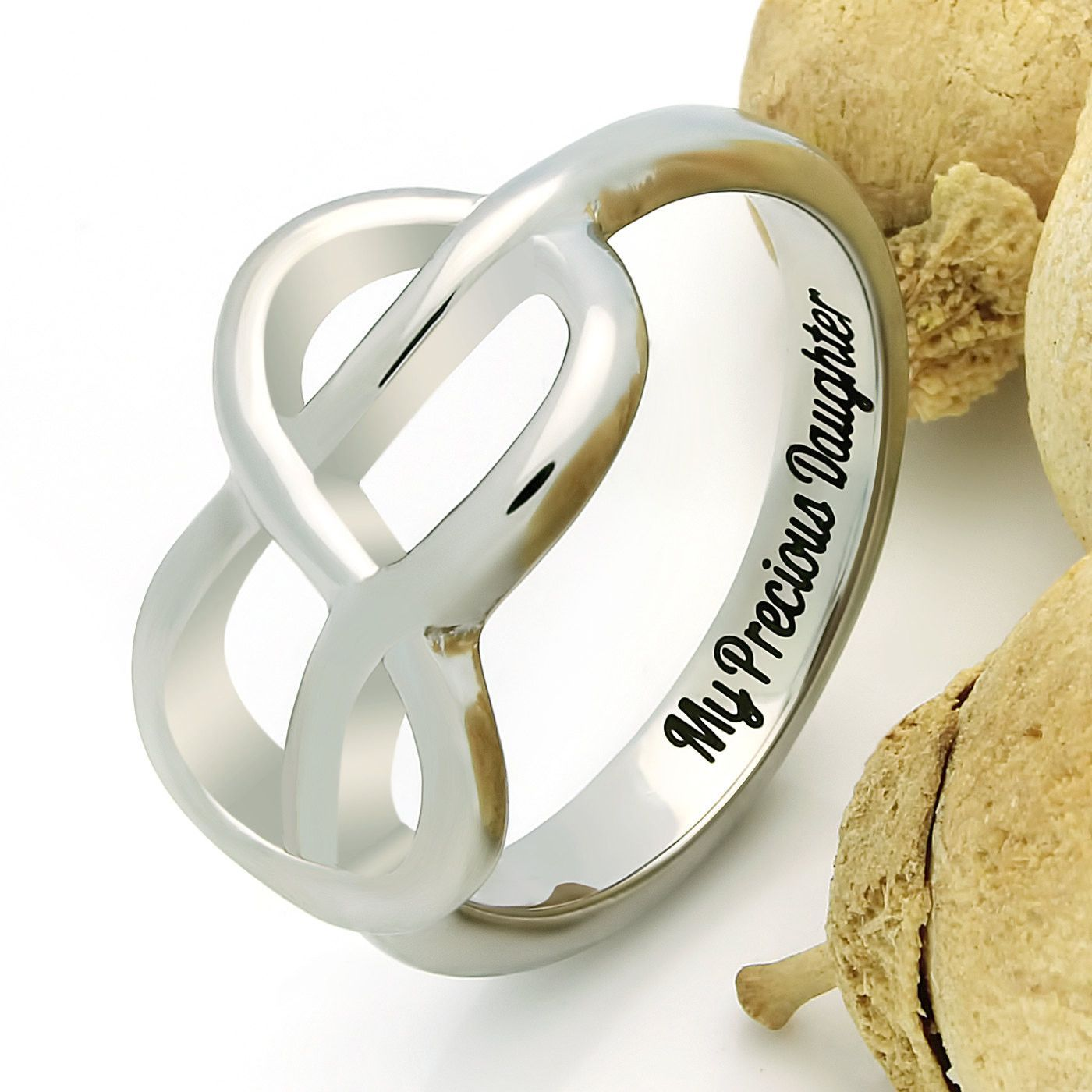 e50a350f3f2af Infinity Ring For Daughter, Double Infinity Ring, Purity Ring