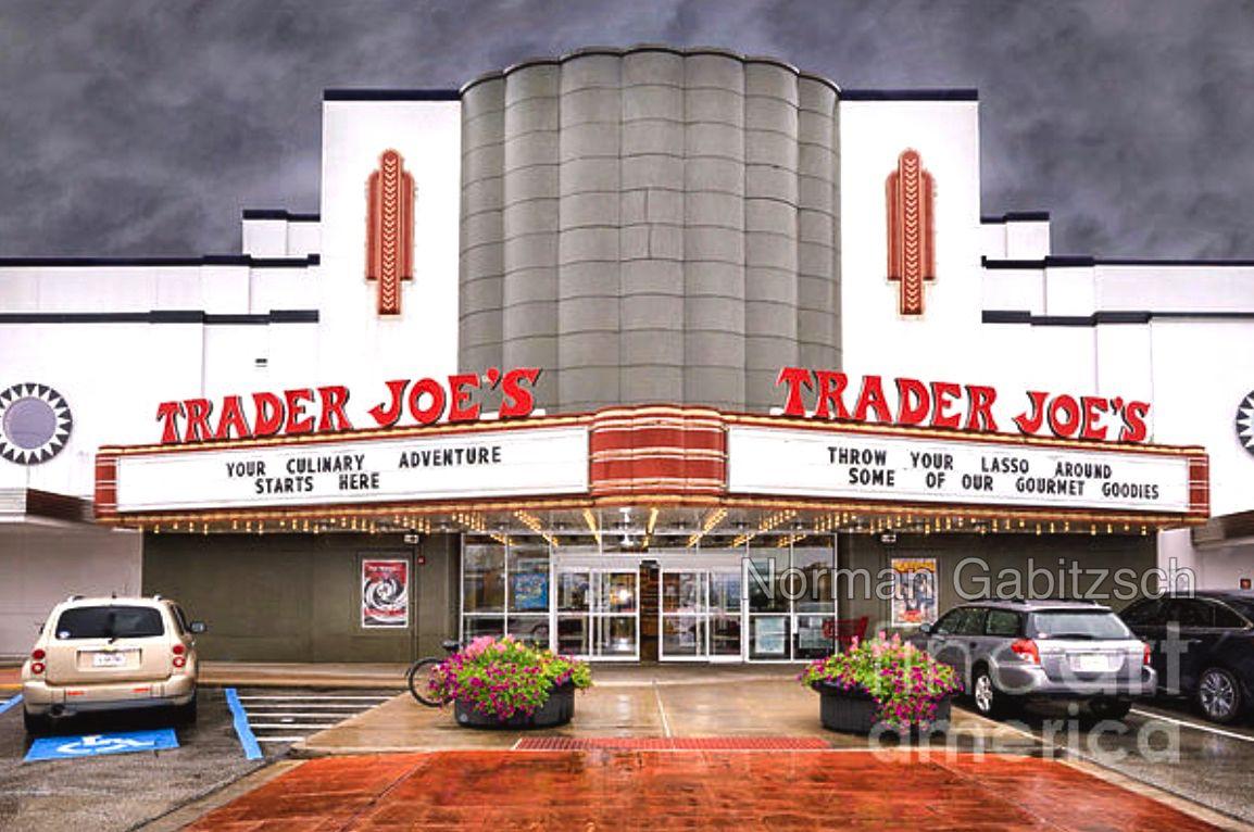 Alabama Theatre And Trader Joe By Norman Gabitzsch Houston Art Trader Joes Architecture Photography