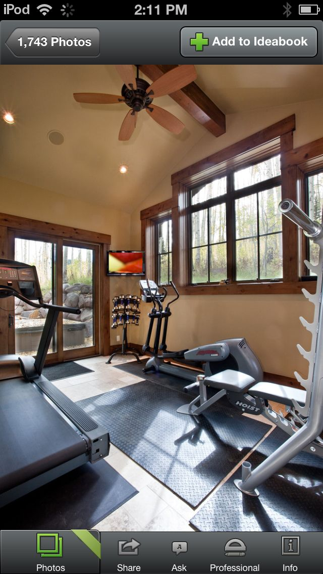 Home gym design remodel decor and ideas home gym for Small room workout