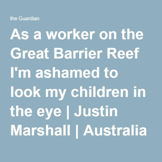 As A Worker On The Great Barrier Reef I'm Ashamed To Look