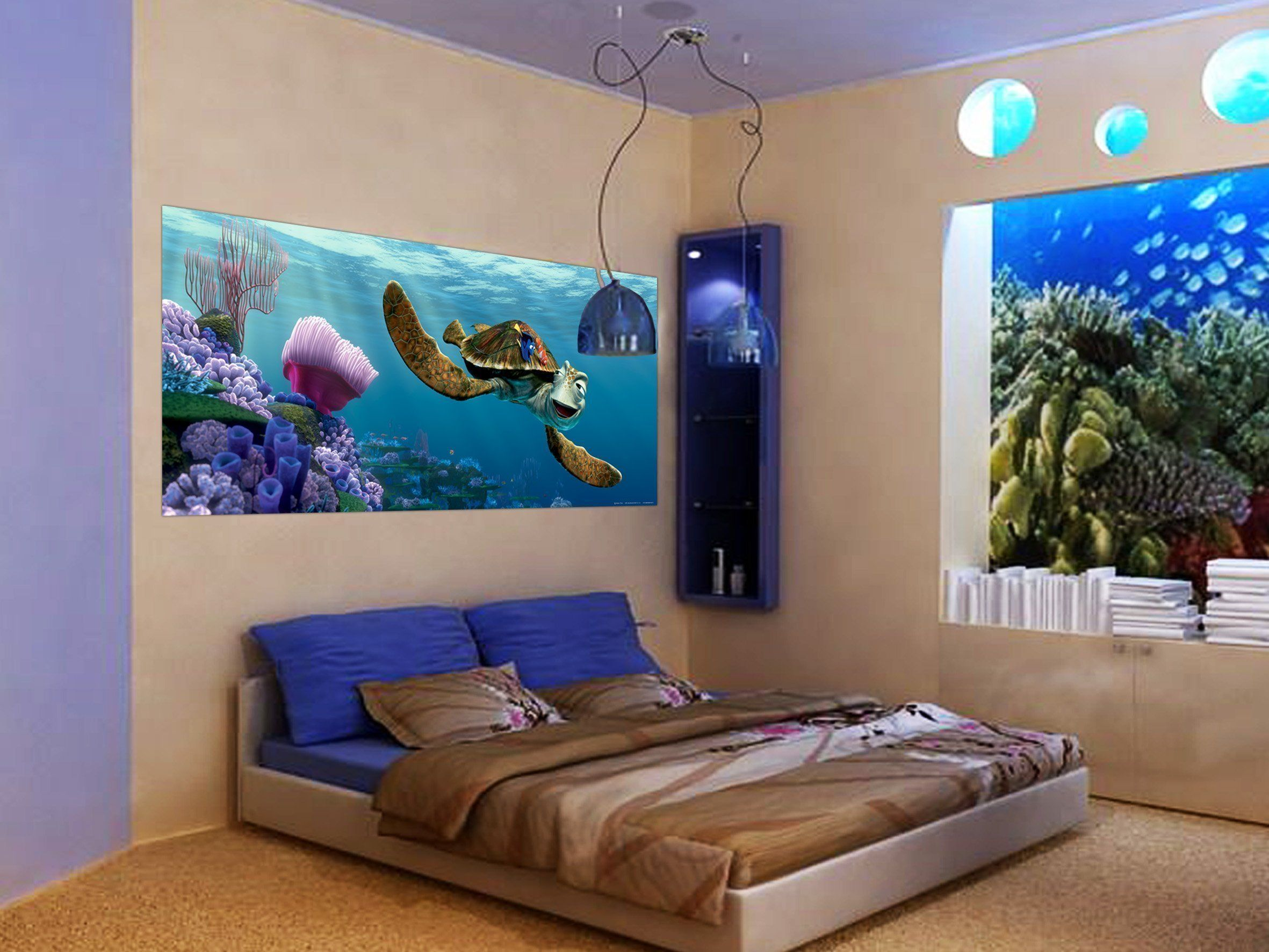 Wallandmore Disney Finding Nemo Wall Decal Mural For Boys Room