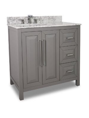 "Bathroom Fixtures Vero Beach 36"" vero beach single bath vanity - gray 