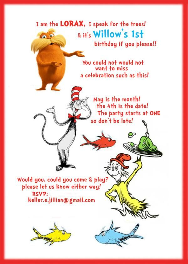 Dr. Seuss Birthday Party via Kara\'s Party Ideas | KarasPartyIdeas ...
