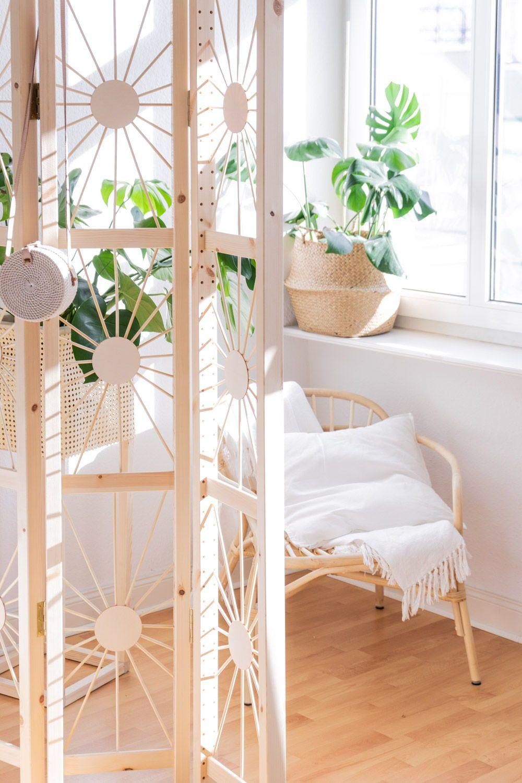 Paravent selber bauen - mein DIY Raumteiler im Ethno Design
