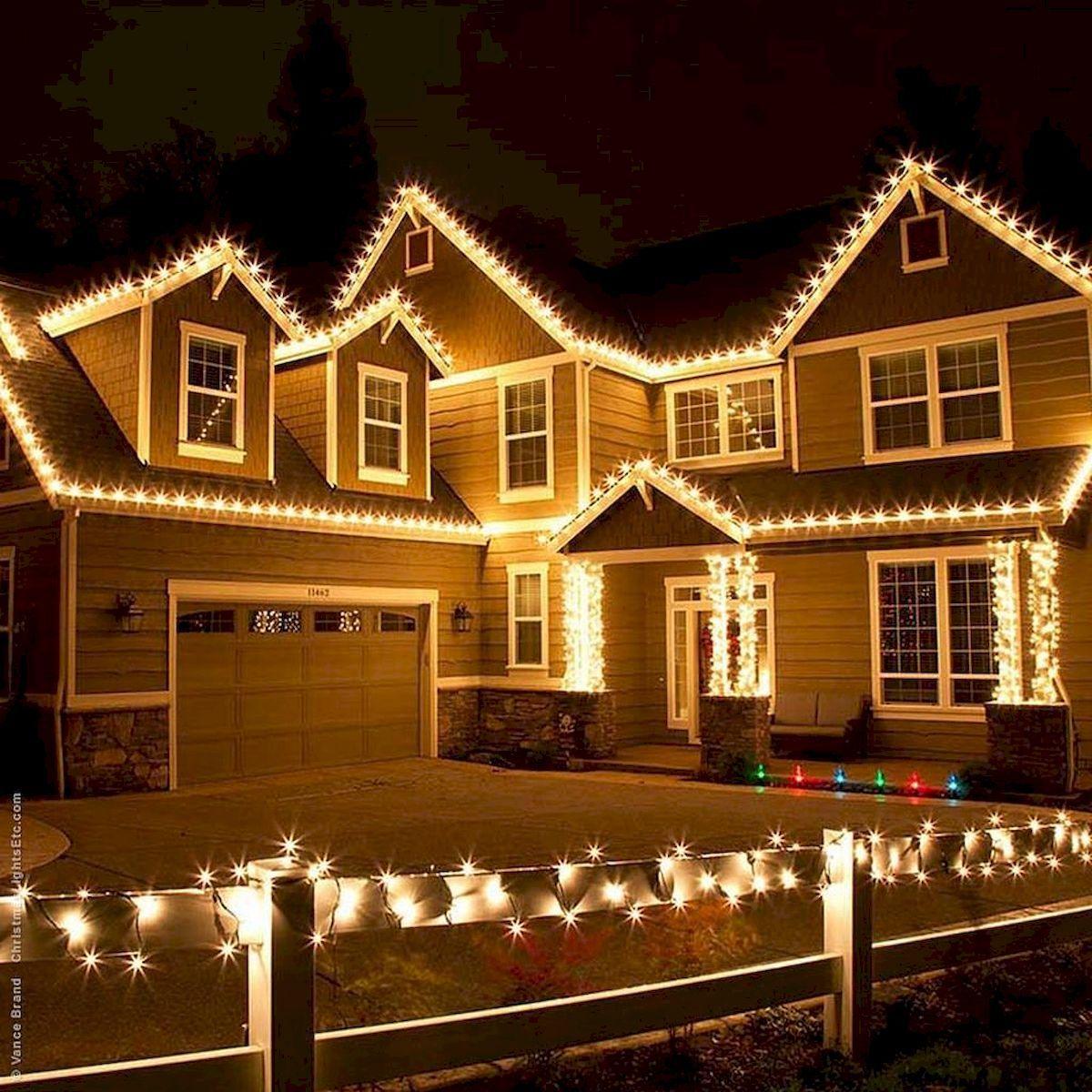 Gorgeous Outdoor Christmas Lighting Ideas Will You Take Deep Breath Https Hajarfresh Com Roof Christmas Lights Hanging Christmas Lights Diy Christmas Lights