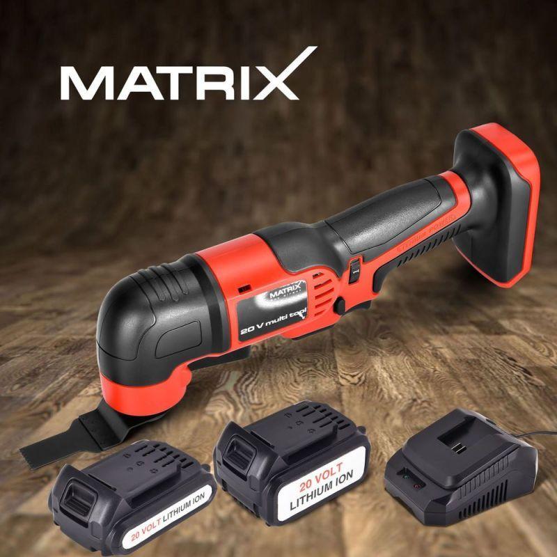 Matrix 20v Cordless Multitool Oscillating Saw Power Tool 3
