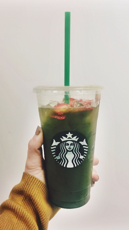 Starbucks Strawberry Acai Refresher with Matcha Powder ...