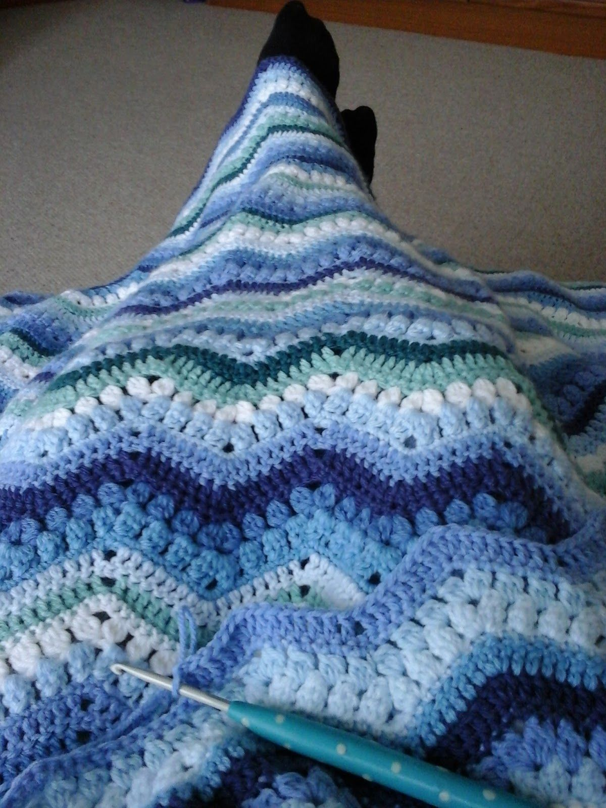 Tina\'s Allsorts, Rippling Clusters Crochet Blanket | Afghans ...