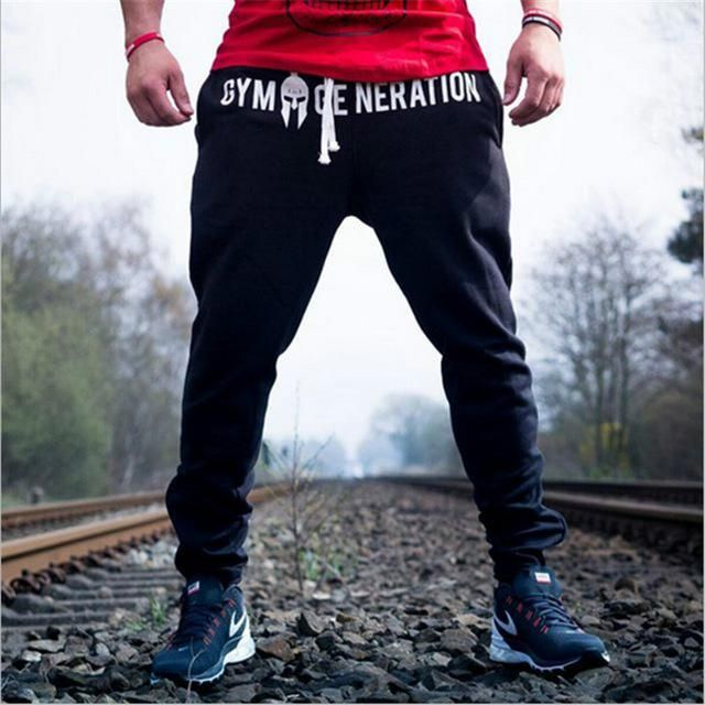 6caa9102b266c Men Fitness Sweatpants male gyms Bodybuilding workout cotton trousers  Casual Joggers sportswear Sweet pants