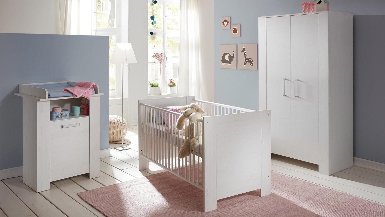Babyzimmer Set OLIVIA Kinderzimmer in weiß 3 teilig ... | {Babyzimmer set 4}