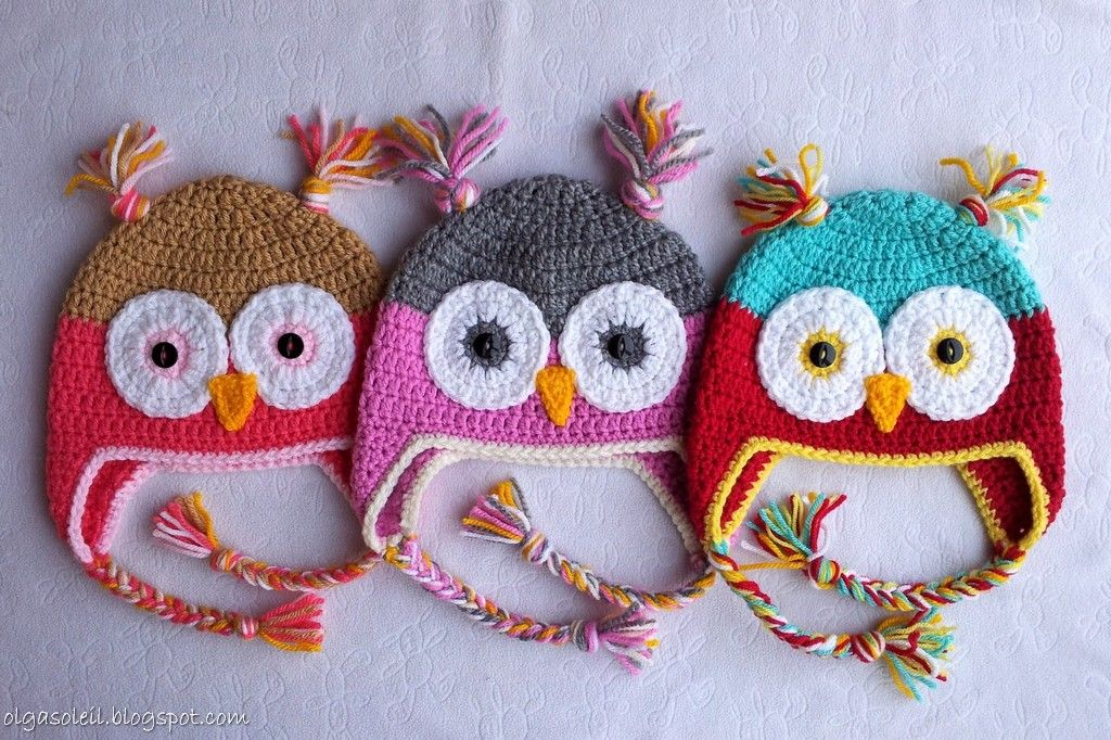 Crochet Owl Hats By Olga Soleil Pattern By Repeat Crafter Me