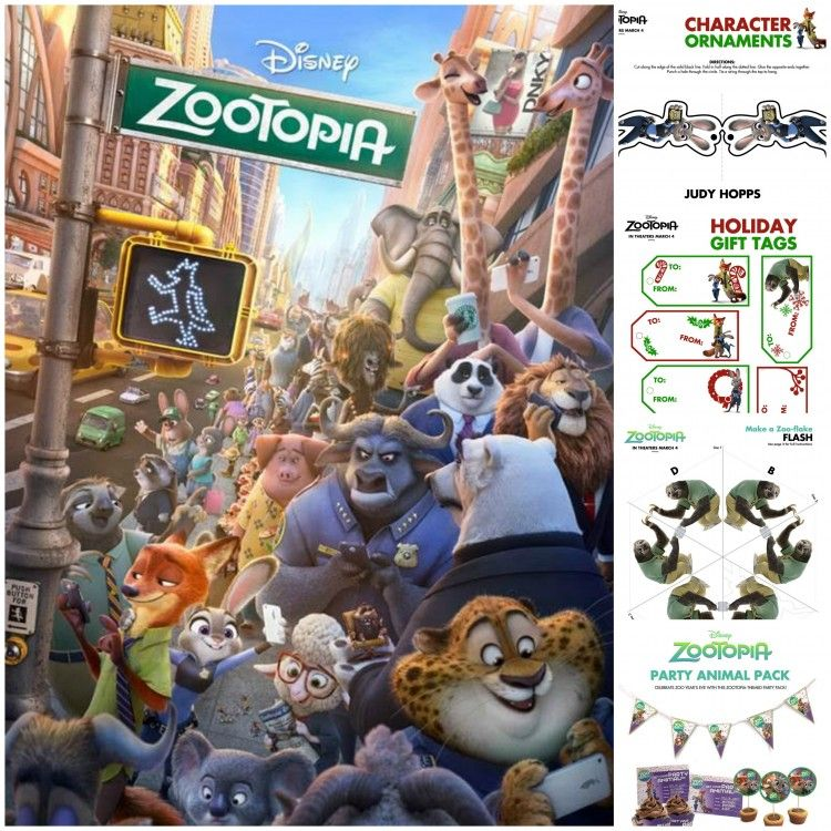 ZOOTOPIA Holiday Activity Sheets | Kid\'s Printables, Coloring Pages ...