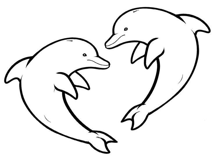 Dibujo Para Colorear De Delfines Delfines Para Colorear Dibujos
