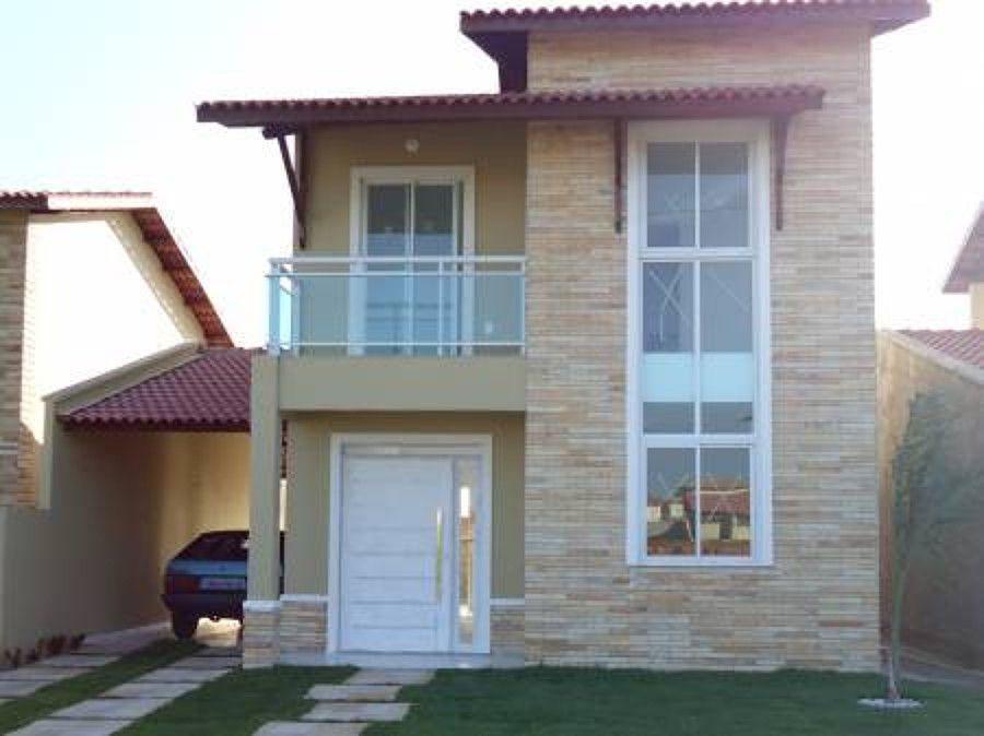 Casa duplex revestimento externo pesquisa google for Fachadas duplex minimalistas