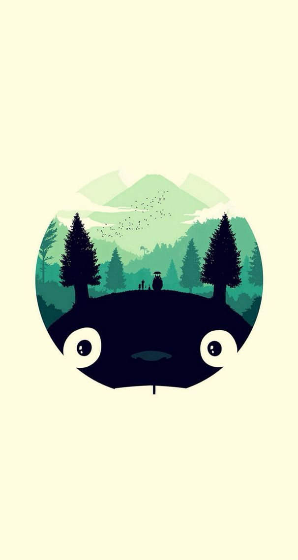 Totoro iPhone 5 wallpaper Totoro art, Anime wallpaper