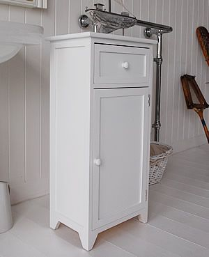White wooden free standing bathroom cabinet bathroom ideas pinterest drawers bathroom for White bathroom cabinets free standing