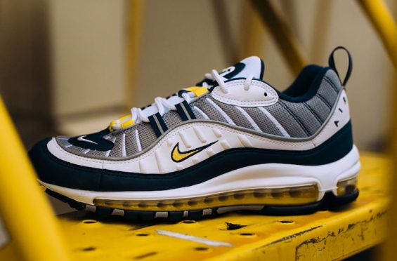Release Date: Nike Air Max 98 White Cement Grey   Cement, Air max and Nike  air max white
