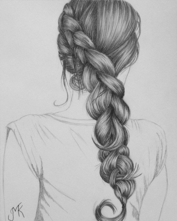 Image Result For French Braid Drawing How To Draw Hair How To Draw Braids Realistic Drawings
