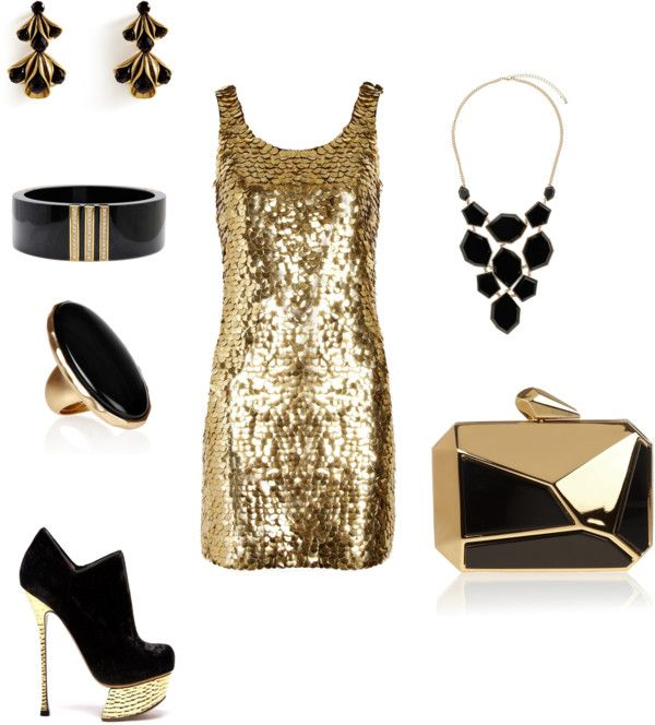 Black And Gold Club Outfit By Gamerbabe91 On Polyvore Love