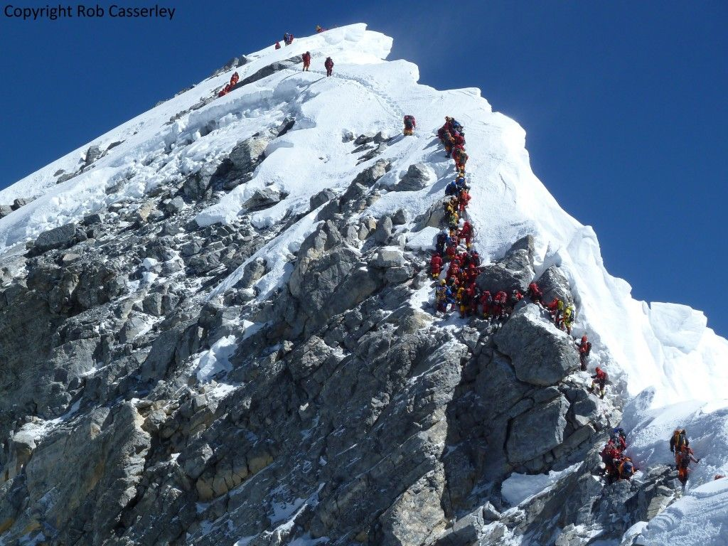 K2 Mountain Map Traffic jam on t...