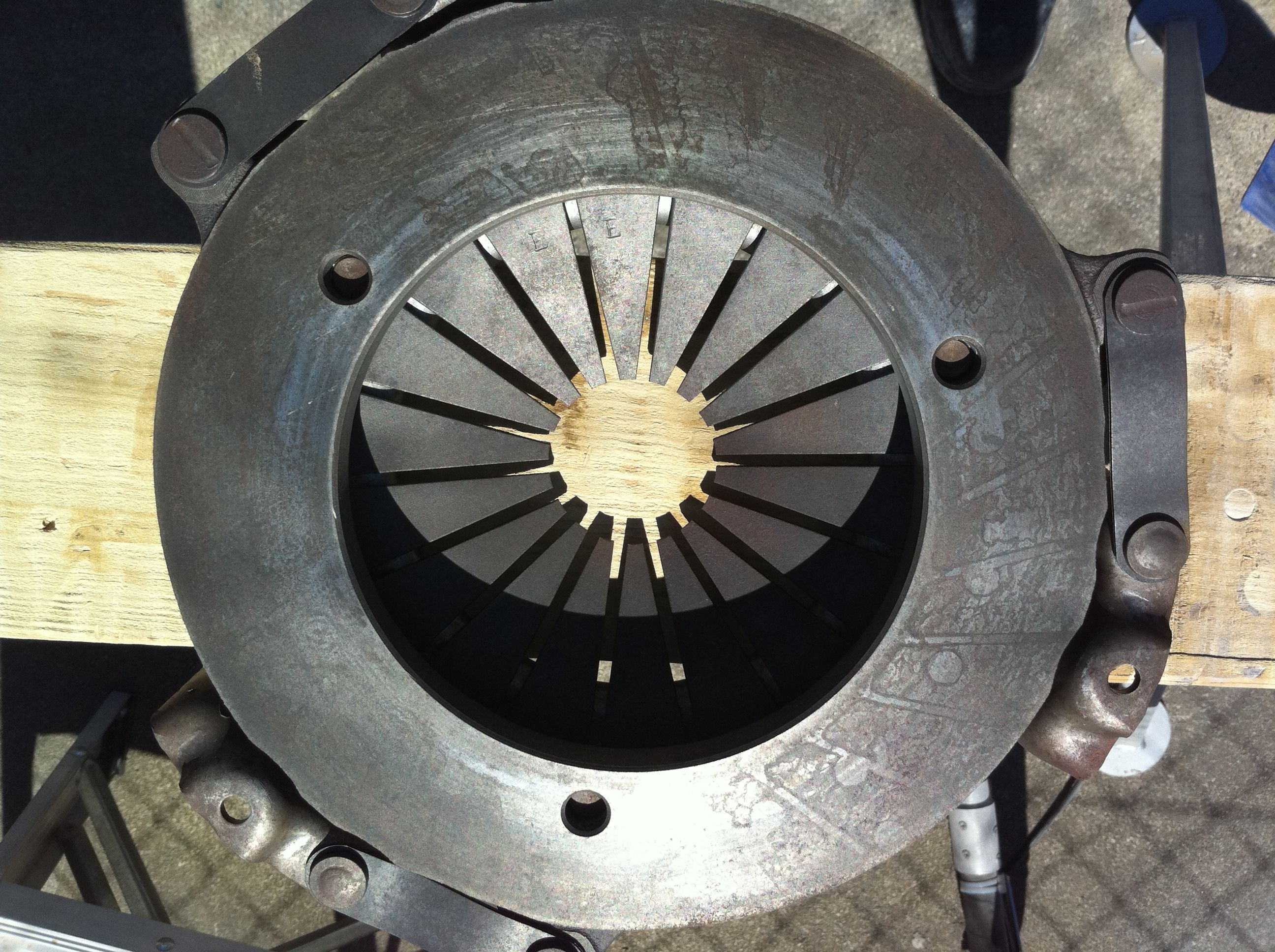 Ford clutch plater after soda blasting find out more