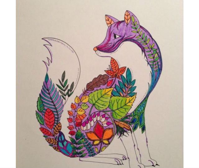 A Nature Infused Animal From The Enchanted Forest BookCourtesy Of Johanna Basford Coloring By Bethany L