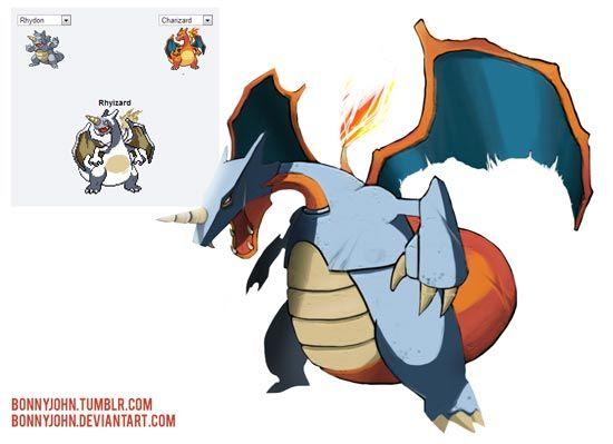 Pokemon fusion pictures rhyzard pokemon pok mon fusions - Cute pokemon fusions ...