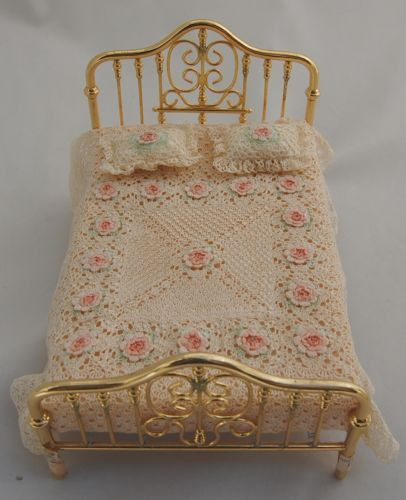 Fine-Dollhouse-Miniature-Victorian-Bedspread-Set-Crochet ...