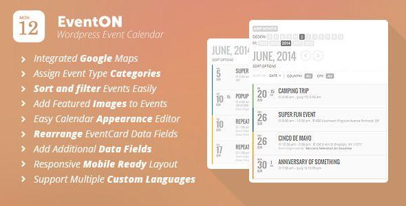 Eventon  Wordpress Event Calendar Plugin  Codecanyon Item For
