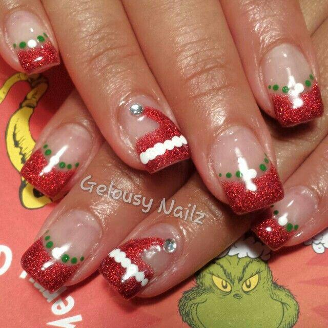 Santa Hat Christmas nail design - Santa Hat Christmas Nail Design Nails <3 Nails <3 Nails <3