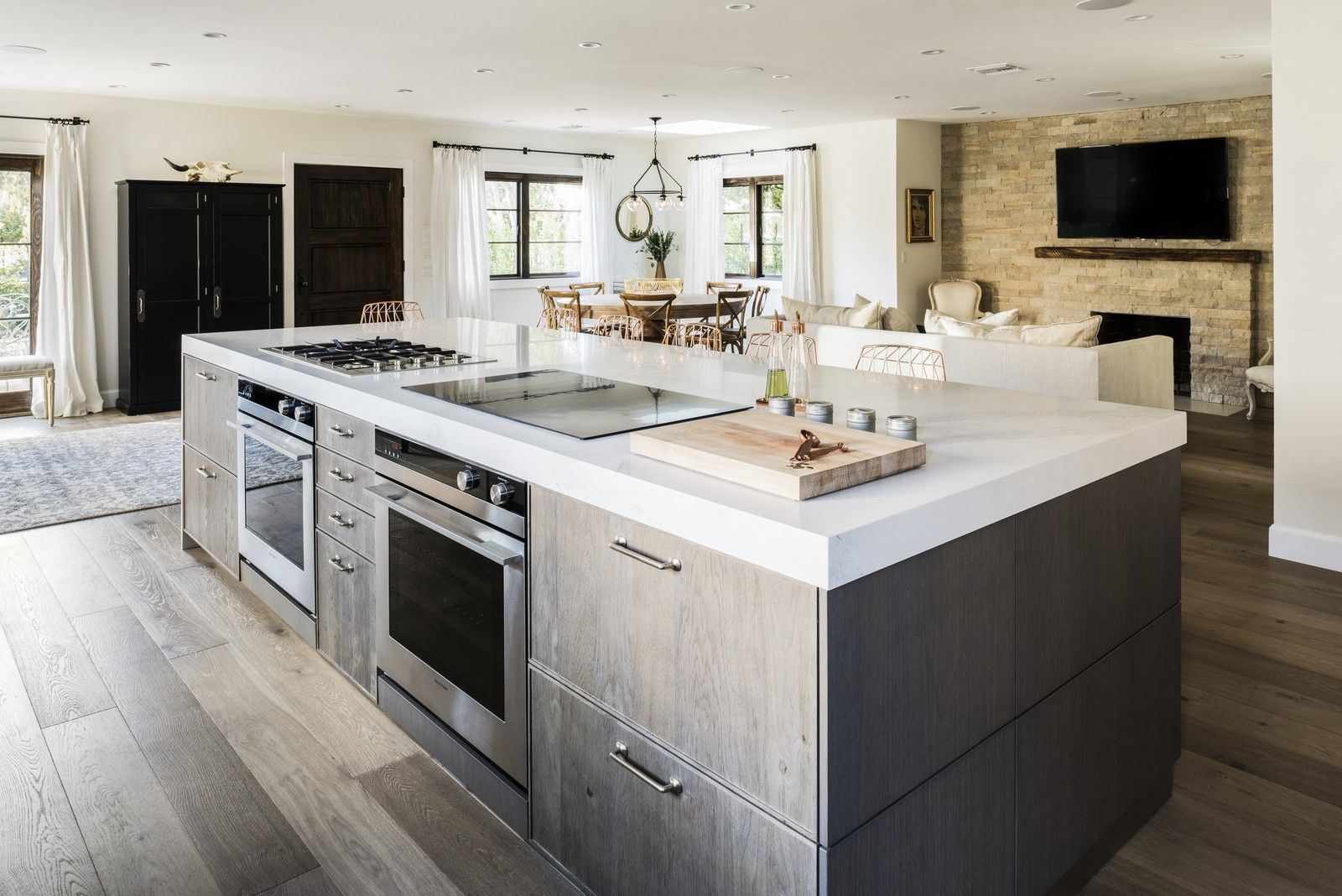 chef ludo lefebvre s modern kitchen with rustic roots in 2020 modern kitchen island kitchen on kitchen island id=78899