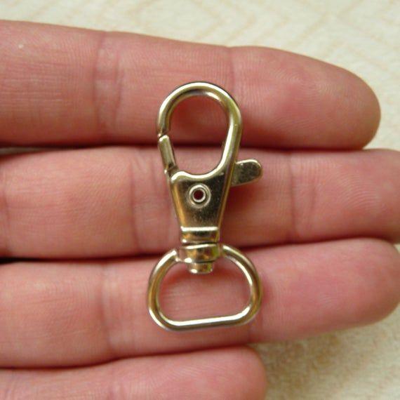 Metal Lobster Trigger Swivel Clasp Findings Split Ring Keyring Hook Holder