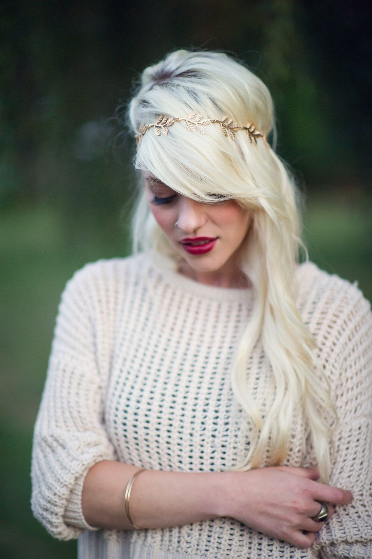 Gold Leaf Crown- Bohemian Wedding Hair Accessory Bridesmaid ...