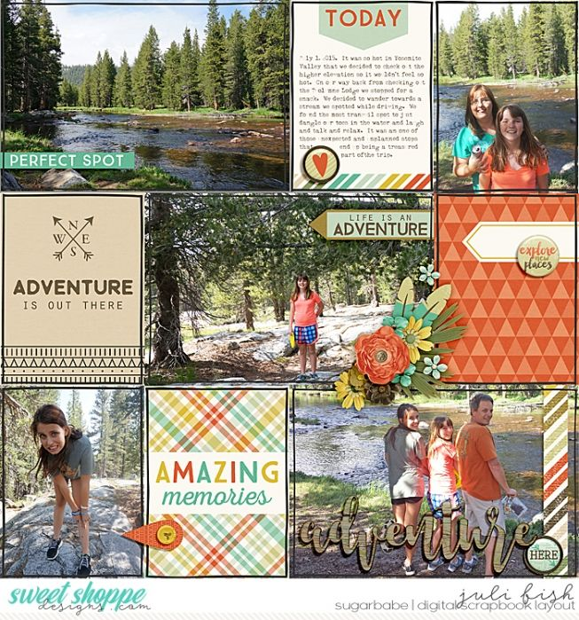 The Perfect Weekend Getaway In Yosemite Valley: Perfect Spot: Yosemite Pocket Scrapbook Style Layout By