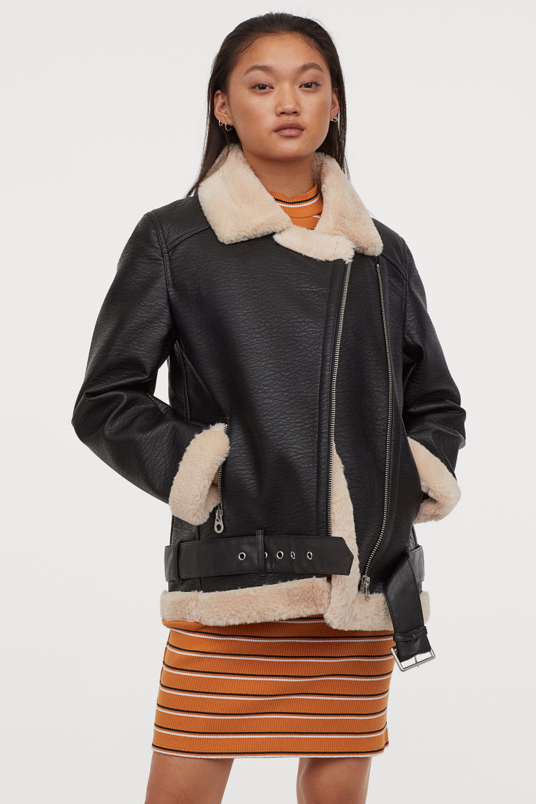 NWOT Oversized Biker Jacket Biker jacket, Jackets, H&m