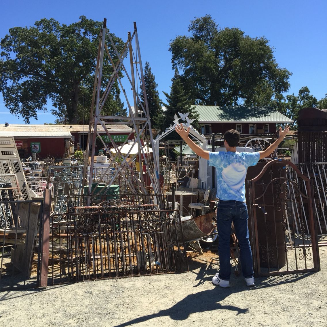 """""""The Pile!"""" I have named it...out door pile of rusty old things for sale in the darling little town of El Dorado, Ca"""