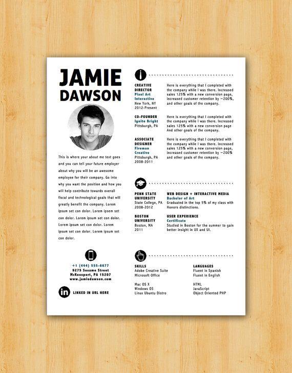 dawson resume template